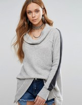 Free People Po Yo Yo Color Block Turtleneck Sweater