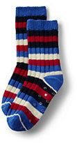 Lands' End Boys Holiday Slipper Socks-Cherry Jam Plaid