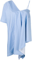Maison Margiela asymmetric striped top - women - Cotton - 40