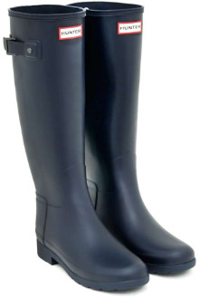 Hunter Navy Original Refined Slim Fit Tall Wellington Boots - 37