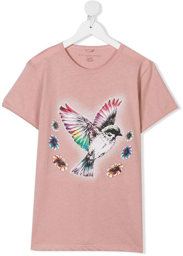 Stella McCartney TEEN bird-print long sleeve T-shirt