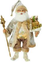 Kurt Adler 18In Kringles Beige & Gold Santa With Staff Decor