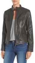 Bernardo Women's 'Kerwin' Belt Detail Leather Jacket