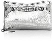 Jimmy Choo Women's Venus Embellished Metallic Python Clutch