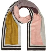 River Island Womens Pink color block print scarf