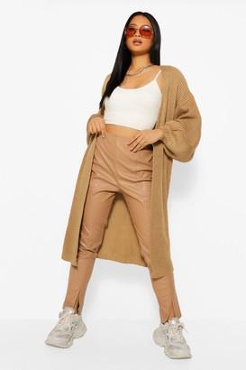 boohoo Petite Oversized Chunky Knit Maxi Cardigan