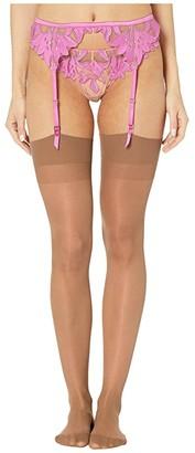 Fleur Du Mal Lily Lace Garter Belt (Aura) Women's Lingerie