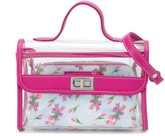 MonnaLisa Sheer Floral Shoulder Bag