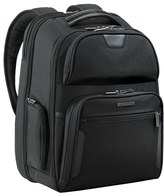 Briggs & Riley Men's 'Large' Ballistic Nylon Clamshell Backpack - Black