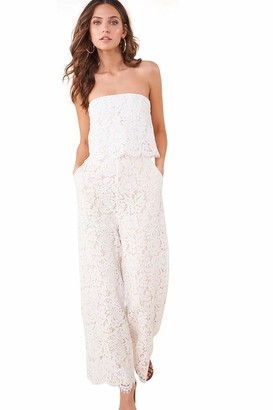 Sugar Lips Sugarlips Women's LACE POP Over Cropped Jumpsuit
