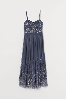 H&M Sequined Mesh Dress