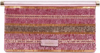 Valentino Garavani Small Carry Secrets Embellished Clutch