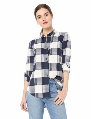 BCBGeneration Women's Back LACE UP Long Sleeve Woven TOP