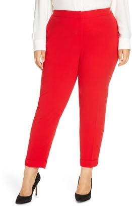Lafayette 148 New York Clinton Finesse Crepe Cuff Ankle Pants
