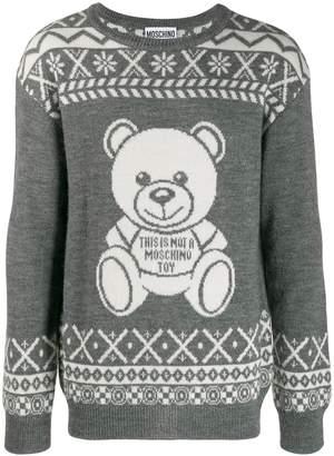Moschino Teddy knitted sweatshirt