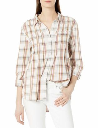 Bandolino Women's Ariel Pleated Button Down Shirt