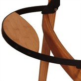 Totally Bamboo Flip Down Foot Rest Folding Camping Chair