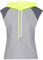 Monreal London Paneled Tech-jersey Hooded Top - Stone