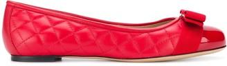 Salvatore Ferragamo Front Bow Ballerina Shoes