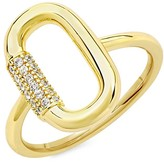 Thumbnail for your product : Sterling Forever Goldplated & Crystal Carabiner Ring/Size 7