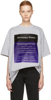 Raf Simons Grey 'Warning Signs' Big T-Shirt