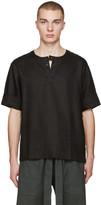 Phoebe English Black Linen T-shirt