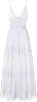 Charo Ruiz Ibiza Cindy semi-sheer tiered maxi dress