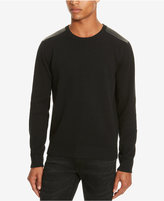 Kenneth Cole Reaction Men's Mixed Media Crew-Neck Sweater