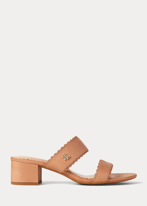 Ralph Lauren Whitni Leather Sandal