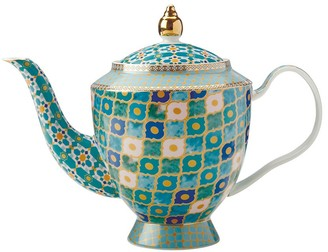 Maxwell & Williams Teas & C's Kasbah Porcelain Teapot with Infuser 1L Mint