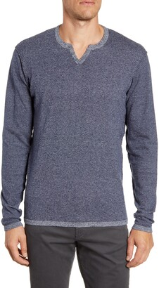Robert Barakett Schofield Long Sleeve Notch Neck T-Shirt