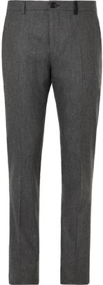 Paul Smith Grey Slim-Fit Melange Wool-Flannel Suit Trousers