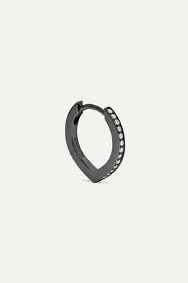 Repossi Antifer 18-karat Black Gold-washed Diamond Earring