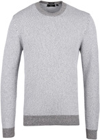 Boss Heldo Crew Neck Stone Marl Cotton Sweater