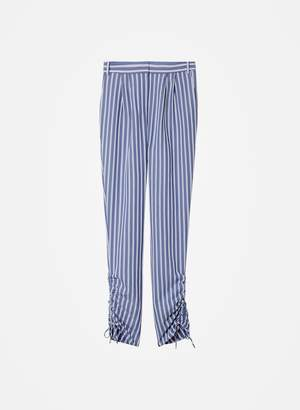Tibi Viscose Twill Shirred Pant