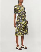 Max Mara S Joy printed linen and cotton-blend midi dress