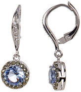 Judith Jack Marcasite & Crystal Detail Drop Earrings