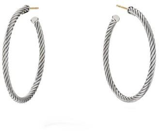 David Yurman Cable Sterling Silver Hoop Earrings