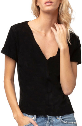 Diane von Furstenberg AS by Martine Suede Tee