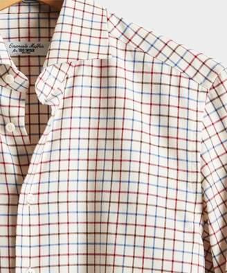 Todd Snyder Emanuele Maffeis + Camiceria E. Maffeis Tattersall Brushed Cotton Shirt