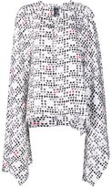 Thomas Wylde 'Smoke' cape blouse - women - Silk - XS