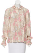 Jill Stuart Printed Ruffle-Accented Top w/ Tags