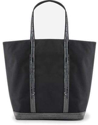 Vanessa Bruno Medium Canvas And Sequins Cabas Tote Bag With Zip