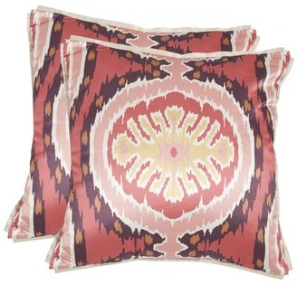 Safavieh Brooke Throw Pillow Color: Red
