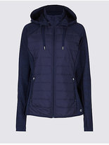 M&S Collection Hooded Zip Through Jacket