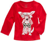 First Impressions Puppy-Print Cotton T-Shirt, Baby Girls (0-24 months), Created for Macy's