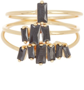 Gorjana Amara Black CZ Ring Set