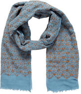 Tory Burch Wool Embroidered Scarf