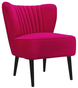 Darcy And Duke Slipper Chair Hot Pink With Black Legs
