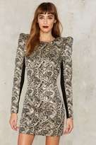 Nasty Gal Collection Constantine Jacquard Mini Dress